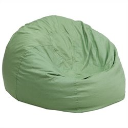 Flash Furniture Oversized Solid Bean Bag Chair in Green