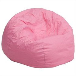 Flash Furniture Oversized Solid Bean Bag Chair in Pink