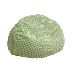 Fabric Kids Bean Bag in Green and White