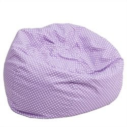 Flash Furniture Kids Bean Bag Chair in Lavender with Small Dot Pattern