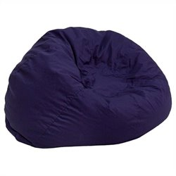 Flash Furniture Small Kids Bean Bag Chair in Navy Blue