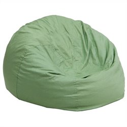 Flash Furniture Small Kids Bean Bag Chair in Green