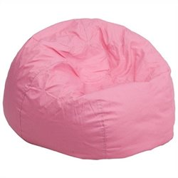 Flash Furniture Small Kids Bean Bag Chair in Pink