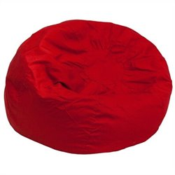 Flash Furniture Small Kids Bean Bag Chair in Red