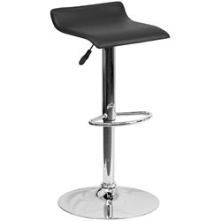 Backless Bar Stool in Black