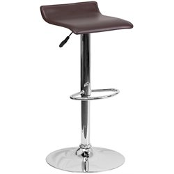 Backless Bar Stool in Brown