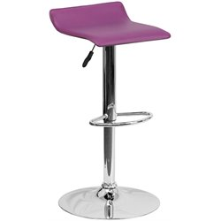 Flash Furniture Backless Bar Stool in Purple