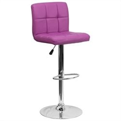 Flash Furniture Quilted Bar Stool in Purple