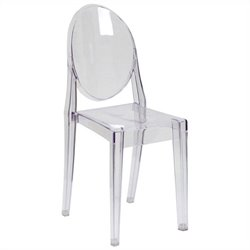 Flash Furniture Ghost  Dining Chair in Transparent Crystal