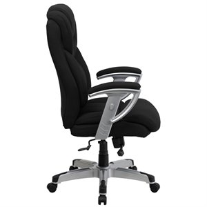 Tall Office Chair with Arms in Black