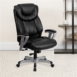 Flash Furniture Hercules Series Big Office Chair with Arms in Black