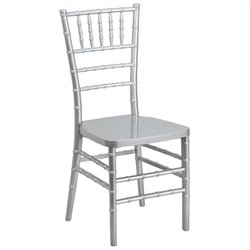 Resin Stacking Dining Chair in Silver