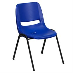 Ergonomic Shell Stacking Chair in Navy