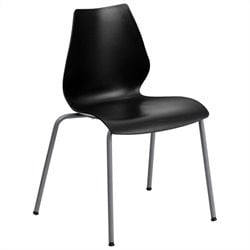 Hercules Series Stack Stacking Chair in Black