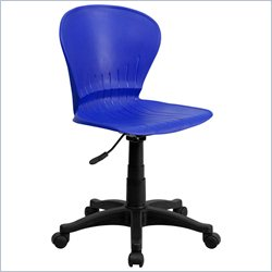Flash Furniture Mid-Back Plastic Swivel Task Chair in Blue