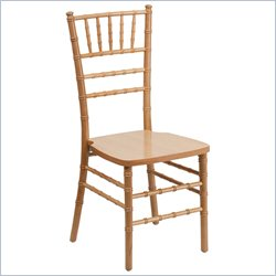 Flash Furniture Elegance Supreme Natural  Chiavari Dining Chair