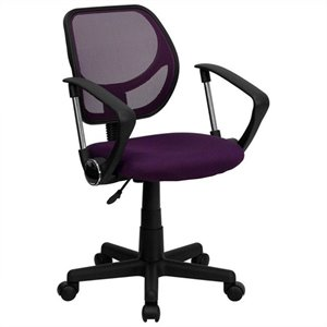 Mid-Back Purple Mesh Office Chair