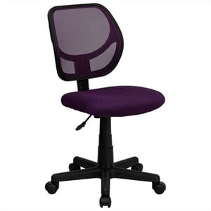 Mid-Back Purple Mesh Task and Computer Office Chair