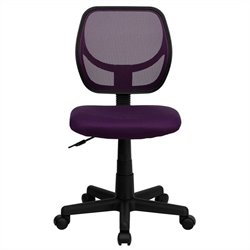 Flash Furniture Mid-Back Purple Mesh Task and Computer Chair