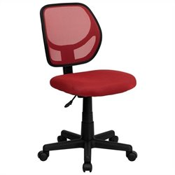 Mid-Back Red Mesh Task and Computer Office Chair