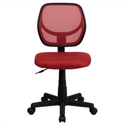 Flash Furniture Mid-Back Red Mesh Task and Computer Chair
