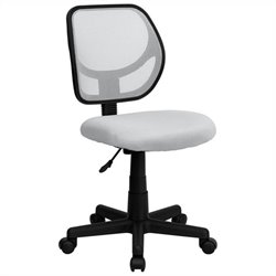 Mid-Back White Mesh Task and Computer Office Chair