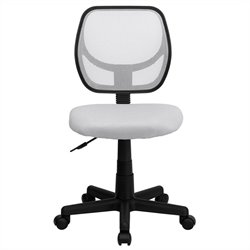 Flash Furniture Mid-Back White Mesh Task and Computer Chair