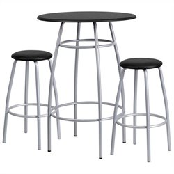 Contemporary Bar Height Table and Stool Set