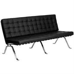 Flash Furniture Hercules Flash Series Leather Sofa in Black