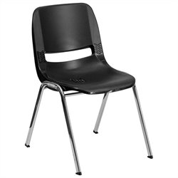 Stack Stacking Chair in Black
