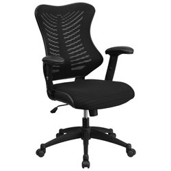Flash Furniture High Back Mesh Chair in Black