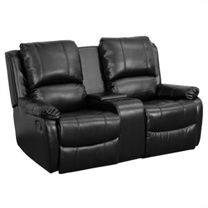2-Seat Home Theater Recliner in Black