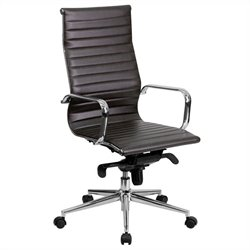 Flash Furniture Ribbed Upholstered Executive Office Chair in Brown