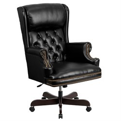 Flash Furniture High Back Upholstered Executive Office Chair in Black