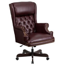 Flash Furniture High Back Upholstered Executive Office Chair in Burgundy