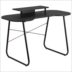 Flash Furniture Computer Desk in Black with Monitor Stand