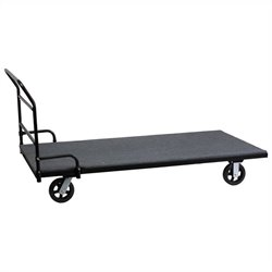 Flash Furniture Rectangular Folding Tables Dolly in Black