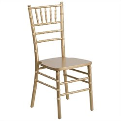 Flash Furniture Elegance Chiavari Dining Chair in Gold