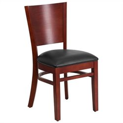 Flash Furniture Lacey Series Upholstered Restaurant Dining Chair in Mahogany and Black