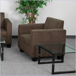 Flash Furniture Grand Series Fabric Arm Chair in Brown