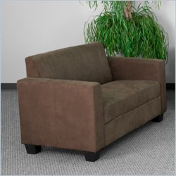 Flash Furniture Grand Series Loveseat in Chocolate Brown