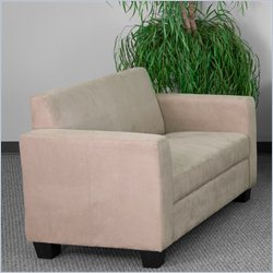 Flash Furniture Grand Series Loveseat in Light Brown
