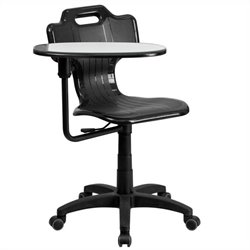 Flash Furniture Mobile Swivel Classroom Chair in Black