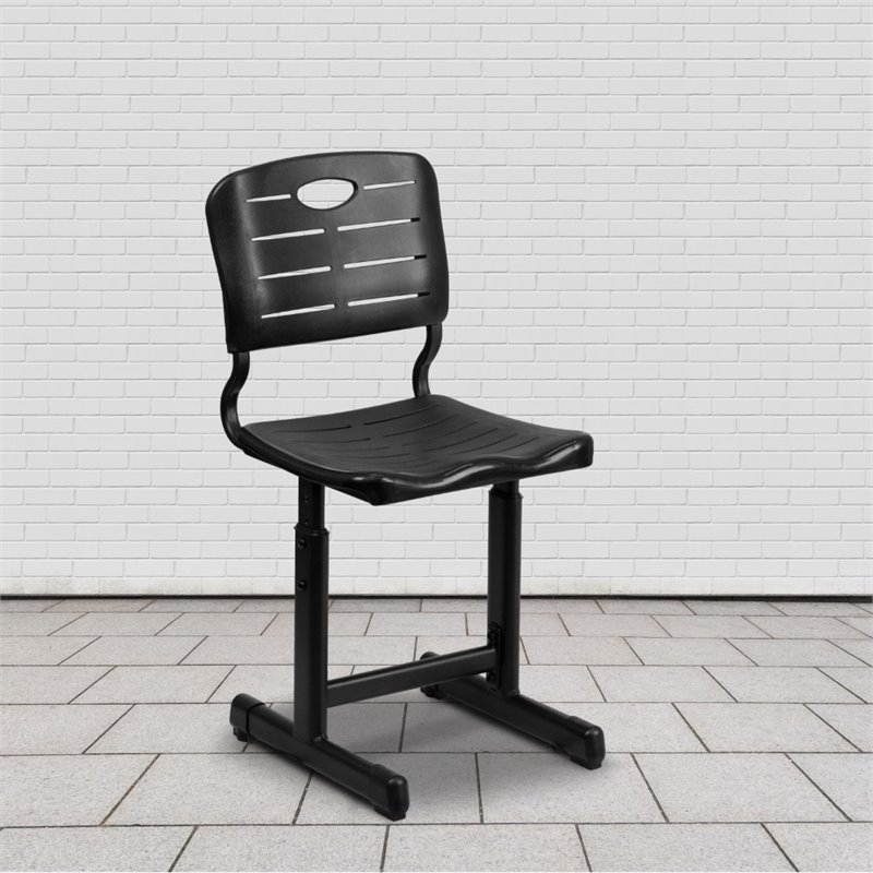 Flash Furniture Student Office Chair in Black