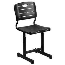 Flash Furniture Student Chair in Black