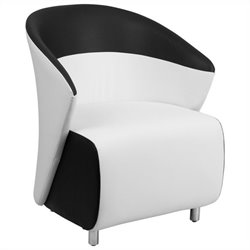Flash Furniture Reception Chair with Black Detailing in White