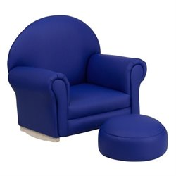 Flash Furniture Kids Navy Vinyl Rocker Chair and Footrest