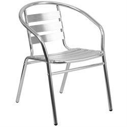Flash Furniture Aluminum Slat Back Dining Chair