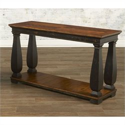 Largo Furniture Newbury Sofa Table with Shelf in Black and Cherry