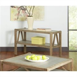 Largo Furniture Ketley Sofa Table in Wire Brush Natural Aluminum
